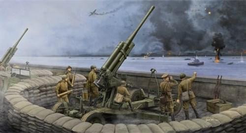 85-мм зенитная пушка 52-К образца 1943 года поздний выпуск (1:35) - фото 36241