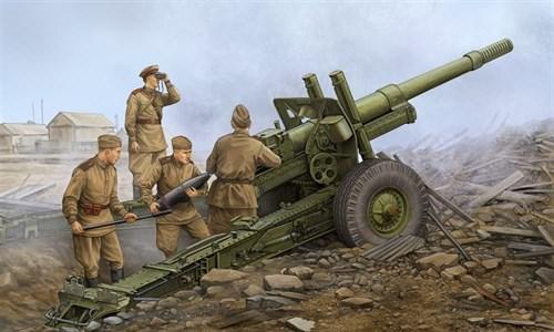 152-мм гаубица-пушка образца 1937 года МЛ-20  на лафете М-46 (1:35) - фото 36254