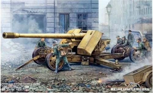 Немецкая 128-мм противотанковая пушка Pak 44 Крупп (1:35) - фото 36258