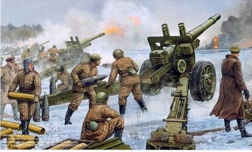 152-мм гаубица-пушка МЛ-20 образца 1937 года (1:35) - фото 36260