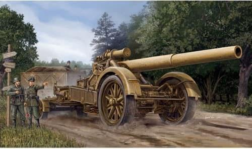Немецкая 21 см тяжелая гаубица 18 (1:35) - фото 36261