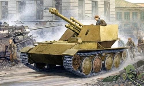 САУ  Крупп/Арделт 105-мм leFH 18 (1:35) - фото 36280