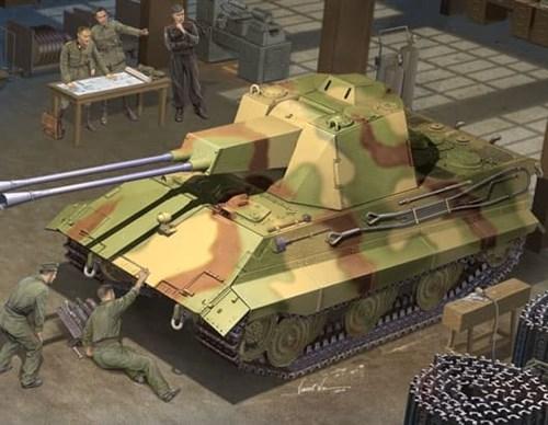 Немецкий зенитный танк E-50 - фото 36316