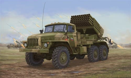 "Реактивная установка  БМ-21 ""Град"" поздняя (1:35) - фото 36343"