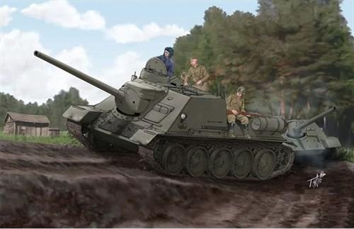 САУ  Советский истребитель танков  СУ-100 (1:16) - фото 36348