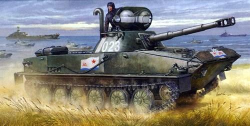 Танк  ПТ-76Б (1:35) - фото 36367