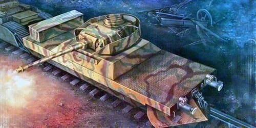 Артиллерийский броневагон (1:35) - фото 36377
