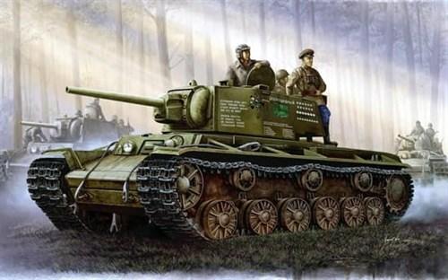 Танк  КВ-1 модель 1942 г. (1:35) - фото 36381