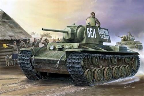 Танк  КВ-1 модель 1941 г. (1:35) - фото 36383