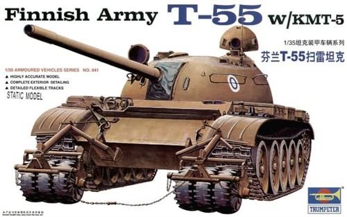 Танк T-55 с КМТ-5 (1:35) - фото 36393