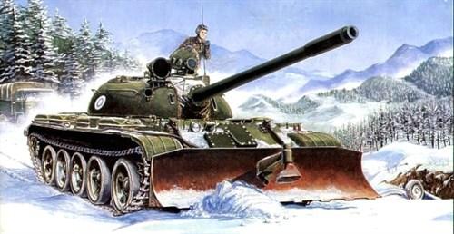Танк T-55 с БТУ-55 (1:35) - фото 36400