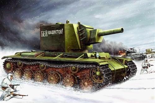 Танк КВ-2 с башней МТ-1 (1:35) - фото 36401
