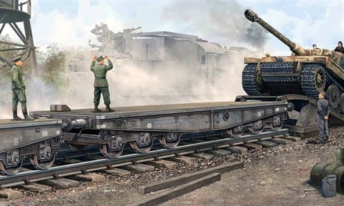 Немецкая тяжёлая ЖД платформа Ssyms 80 (1:35) - фото 36408