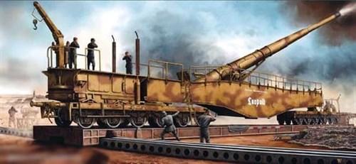 280mm K5(E) Leopold Railroad Gun  (1:35) - фото 36417
