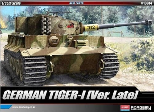 Танк  Pz.Kpfw.VI Тигр I поздний выпуск (1:35) - фото 36458