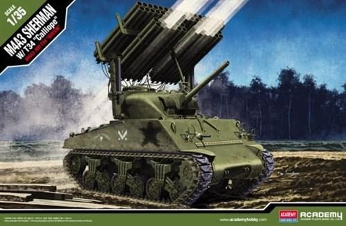 "Танк M4A3 Sherman w/ T34 ""Calliope""  (1:35) - фото 36462"