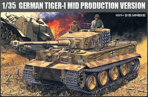 Танк  Pz.Kpfw.VI Тигр ср.вып. (1:35) - фото 36473