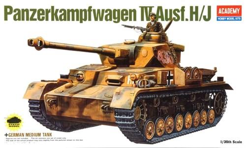 Танк  GERMAN PANZER IV H/J (1:35) - фото 36478