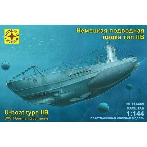 Немецкая  подводная  лодка  тип  IIB (1:144) - фото 36537