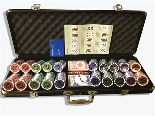 """""""Ultimate 500"""",  Профессиональный набор для игры в покер.  500 фишек по 14  грамм. 2 колоды карт. - фото 39379"""