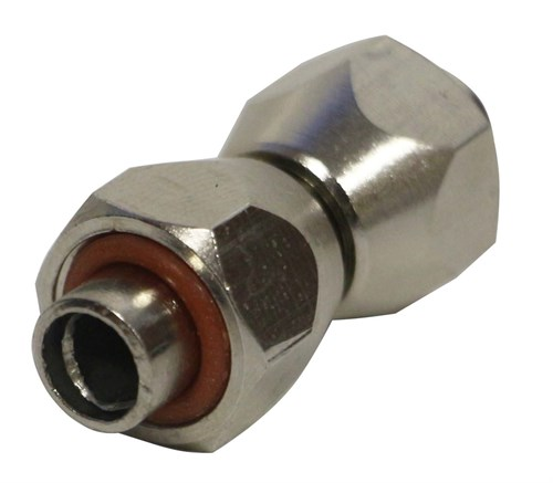 Переходник гайка M12x1 - трубка - гайка M12x1 (головка компрессора 1205, 1206 - переходник 8115) комплект с прокладками - фото 42006