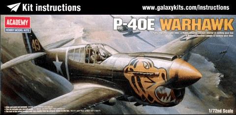 Самолёт  P-40E WARHAWK  (1:72) - фото 43015