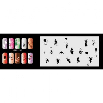 Трафарет для росписи ногтей - фото 43356
