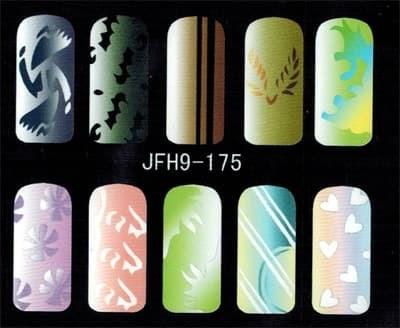 Трафарет для росписи ногтей - фото 43357