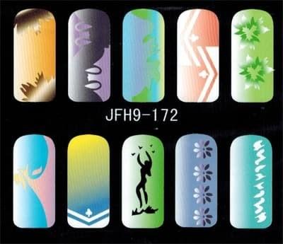 Трафарет для росписи ногтей - фото 43358