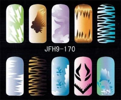 Трафарет для росписи ногтей - фото 43359