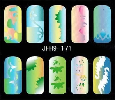 Трафарет для росписи ногтей - фото 43362