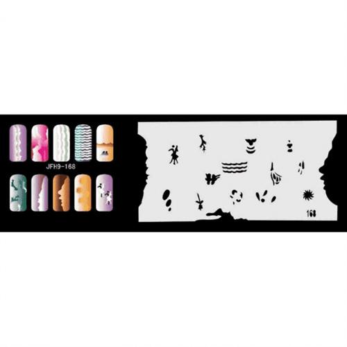 Трафарет для росписи ногтей - фото 43363