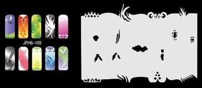 Трафарет для росписи ногтей - фото 43369
