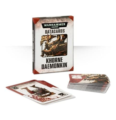 DATACARDS: KHORNE DAEMONKIN (ENGLISH)