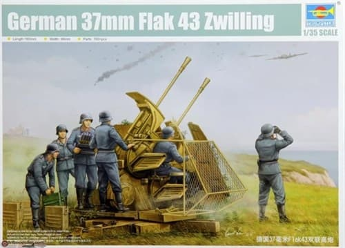 ЗЕНИТНОЕ ОРУДИЕ GERMAN 37MM FLAK 43 ZWILLING (1:35)