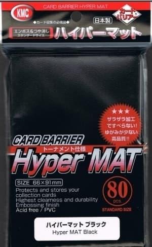 KMC Standart Sleeves - Hyper Mat Black  (80 штук) - фото 45747