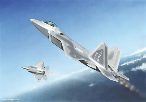 """Купите Самолет  F-22A """"Раптор"""" (1:144) в интернет-магазине «Лавка Орка». Доставка по РФ от 3 дней."""