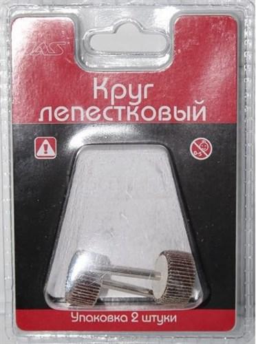 Круг лепестковый, d 20 х 5 мм, зерно Р 120, 2 шт./уп., блистер - фото 47360
