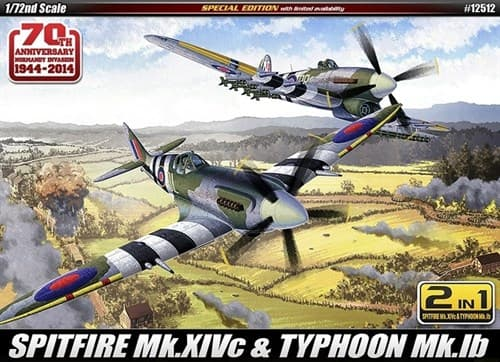 "Купите  Самолет   SPITFIRE Mk.14C & TYPHOON Mk.IB ""Annv.70 Normandy Invasion 1944"" (1:72) в интернет-магазине «Лавка Орка». Доставка по РФ от 3 дней."