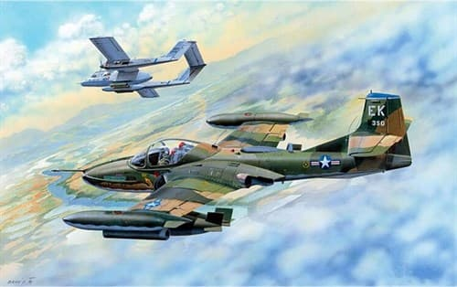 Купите Самолет  Американский лёгкий штурмовик A-37B Dragonfly (1:48) в интернет-магазине «Лавка Орка». Доставка по РФ от 3 дней.