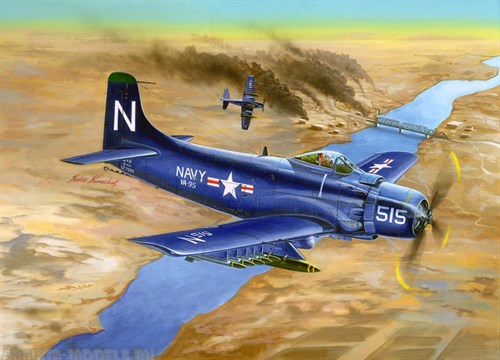 Купите Самолёт  A-1D AD-4 Skyraider (1:32) в интернет-магазине «Лавка Орка». Доставка по РФ от 3 дней.