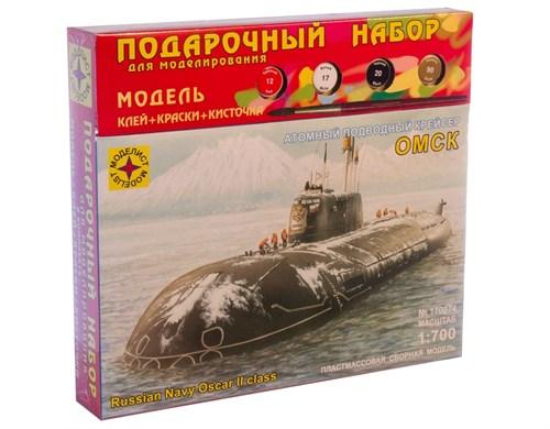 """Купите Атомный подводный крейсер """"Омск"""" (1:700) в интернет-магазине «Лавка Орка». Доставка по РФ от 3 дней."""