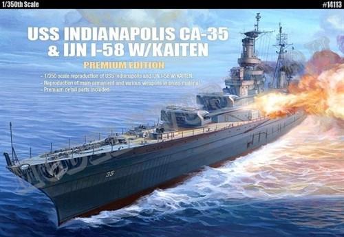 """Купите Корабль  U.S.S. CA-35 INDIANAPOLIS """"PREMIUM EDITION"""" :LE  (1:350) в интернет-магазине «Лавка Орка». Доставка по РФ от 3 дней."""