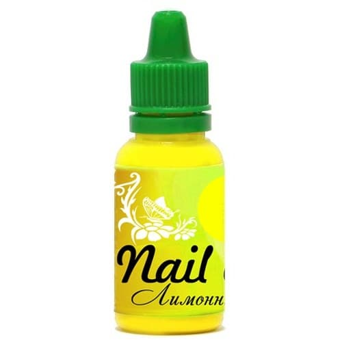 Фото 1 Краска для ногтей Nail Art — Лимонный жёлтый 15мл