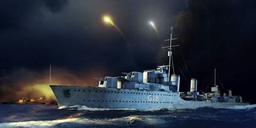 """Купите Корабль  HMS Zulu Destroyer 1941 (1:350) в интернет-магазине """"Лавка Орка"""". Доставка по РФ от 3 дней."""