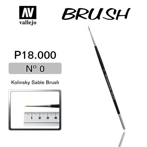Купите кисть Kolinsky Sable Brush No.0 в интернет-магазине «Лавка Орка». Доставка по РФ от 3 дней.