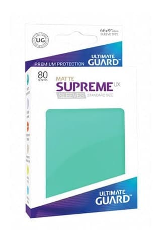 Supreme Sleeves Standard Size Matte Turquoise (UX) - фото 52966