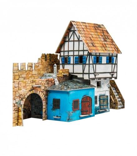 """Игровой набор из картона """" Дом у стены"""""""
