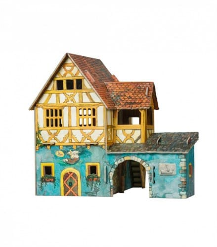 """Игровой набор из картона """" Дом с кораблем"""""""