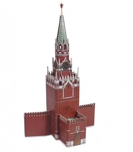 Сборная модель из переплетного картона. Серия: Архитектурные памятники. Спасская башня. - фото 55609